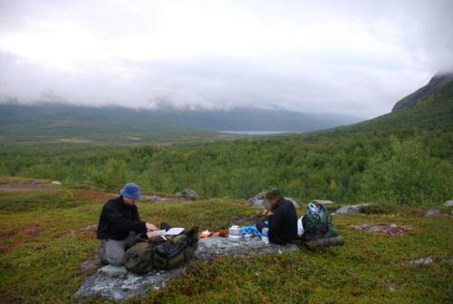 Første teltplads, med udsigt tilbage mod dagens etape.
