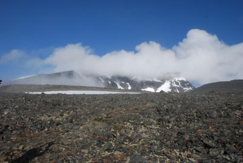På vej mod Kepnekaisers top